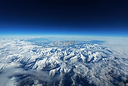 比利牛斯,山,雪