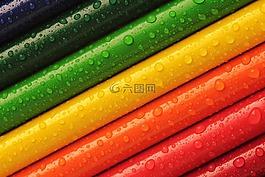 铅笔,蜡笔,色彩缤纷