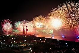 科威特,煙花,顯示