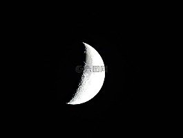 月亮,新月,月光