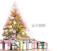 圣诞节,装饰,礼物