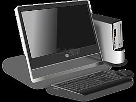 計算機,桌面,現代