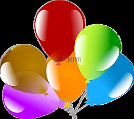 气球,庆典,浮动