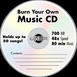 音乐 cd,光盘,空白的 cd
