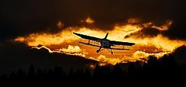 旅行,飞,飞机