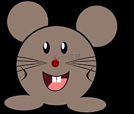 鼠標,灰色,小
