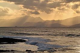 沿海風景,海,地中海