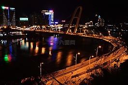 夜景,城市,城市夜景