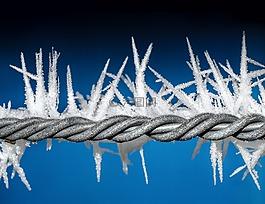 冰,電線,冬天