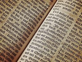 圣經 》,書頁,字體