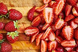 草莓,水果,红色