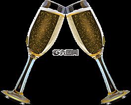 香槟,牢眼镜,酒精