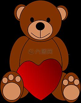 熊,心,爱