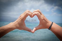心,愛情,手