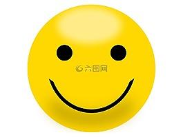 笑脸,黄色,快乐