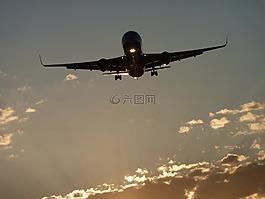 飞机,波音公司,太阳
