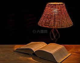 光,灯,床头灯