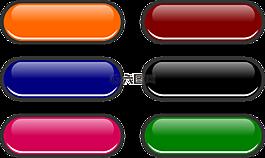網頁按鈕,按鈕,有光澤