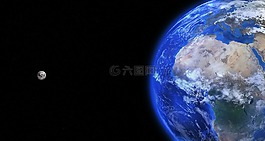 地球,全球,月亮