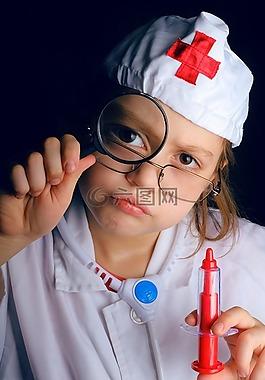 救护车,医生,学生