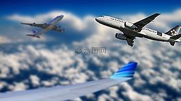 飞机,天空,飞