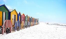海滩,多彩,色彩缤纷
