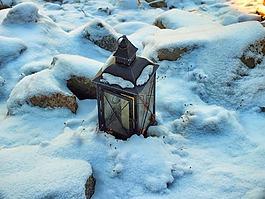 灯笼,冷冻灯笼,冬天