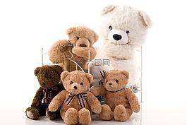 家庭,組,玩具熊