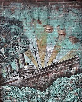 涂鴉,街,藝術