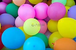 气球,儿童,彩色气球