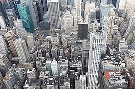 紐約,建筑物,高大