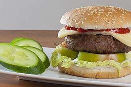 漢堡包,食物,健康的食物
