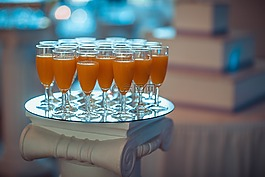 眼镜,果汁,喝
