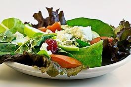 沙拉,新鮮,食品