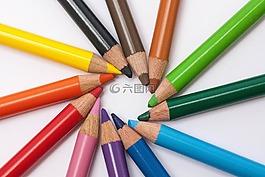 彩色的铅笔,彩色铅笔,明星