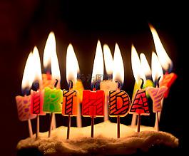 生日,蠟燭,慶典