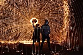 steelwool,firespin,藝術