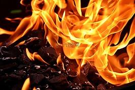 火,火焰,碳