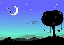 月亮,夢想,幻想