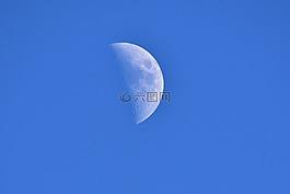 月球,天空,蓝色