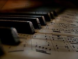 音乐,钢琴,键