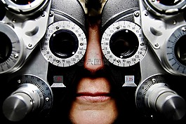 眼镜,考试,验光