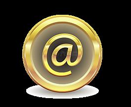 電子郵件,消息,黃金