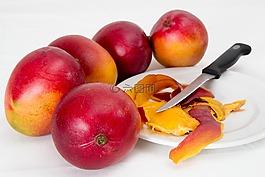 芒果,热带水果,多汁