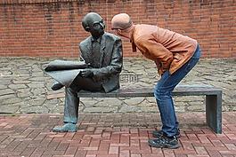 男子,雕塑,藝術