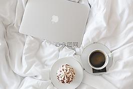 咖啡,杯,蘋果