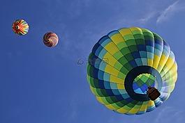 热气球,浮动,乐趣