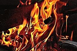 火,火焰,木