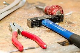工具,工作台,锤