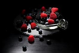 黑暗的心情食物,lichtspiel,漿果